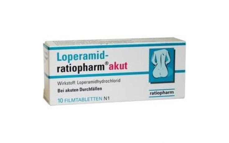 LOPERAMID ratiopharm akut 2 mg Filmtabletten