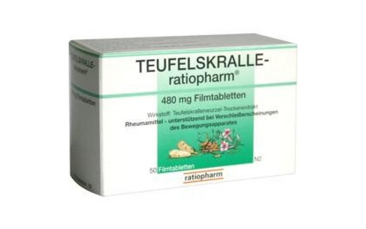 TEUFELSKRALLE-RATIOPHARM Filmtabletten