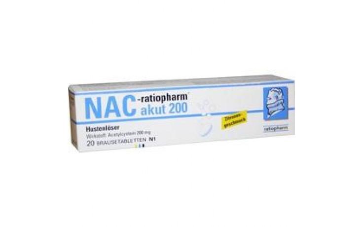 NAC-ratiopharm akut 200 mg Hustenlöser Brausetabl.