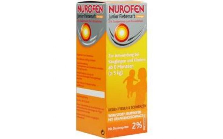 NUROFEN Junior Fiebersaft Orange 2%