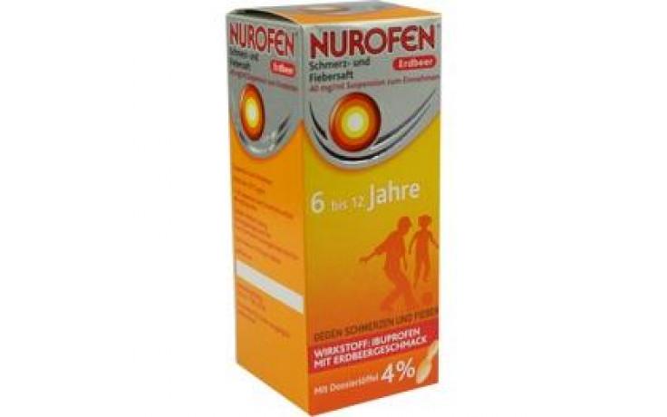 NUROFEN Schmerz-u.Fiebersaft Erdbeer 40 mg/ml