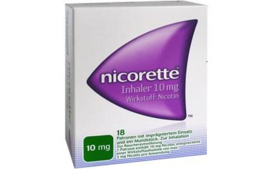 NICORETTE Inhaler 10 mg 18 Patronen + 1 Mundstück