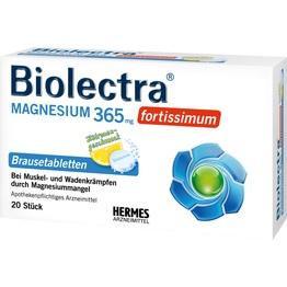BIOLECTRA Magnesium 365 fortissimum Zitrone Br.Tab