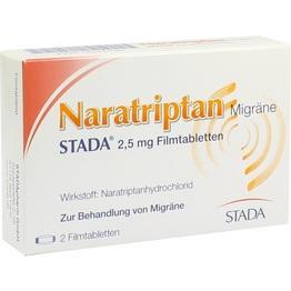 NARATRIPTAN Migräne STADA 2,5 mg Filmtabletten