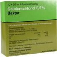 CALCIUMCHLORID Lösung 5,5% Ampullen