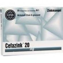 CEFAZINK 20 mg Filmtabletten