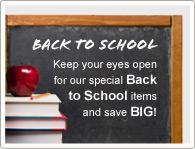 Halten Sie die Augen offen für unsere speziellen Angebote zum Schulanfang und sparen Sie VIEL GELD!
